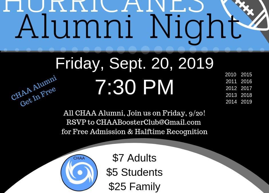 Hurricane Football Alumni Night September 20th